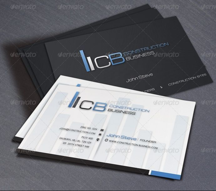 28 best 25+ Construction Business Card Template PSD and InDesign ...