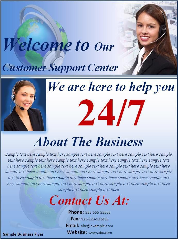 Sample Business flyer - Best Word Templates