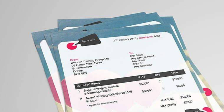Creative Invoice Examples for E-Learning Designers