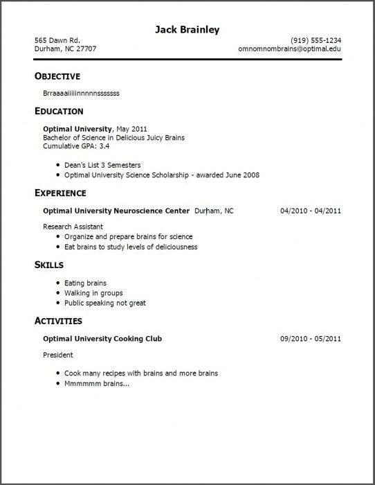 The Most Awesome How To Write Resume With No Experience | Resume ...
