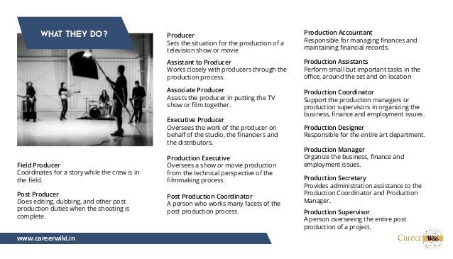 career in film and television production