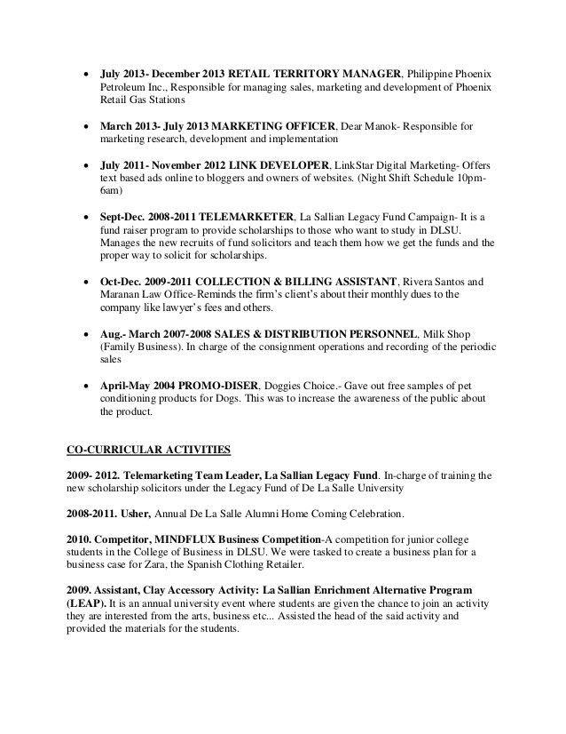 Dlsu Resume Format Dlsu Resume Format Resume Jude Katherine Claire - dlsu resume format