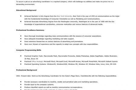 sample resumes, advertising director resume or sales resume ...