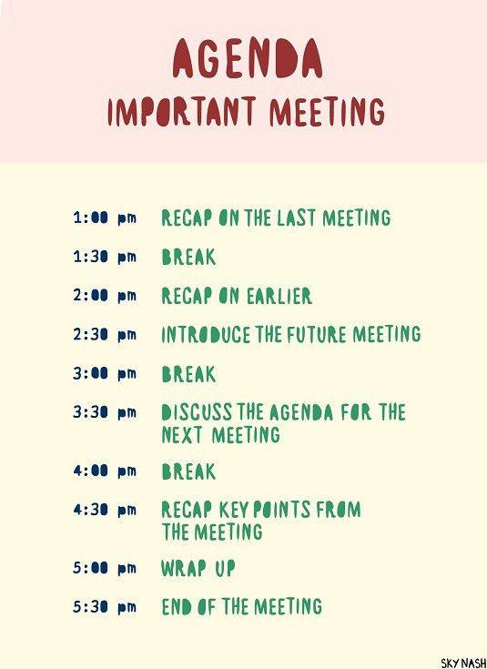 how to make a meeting agenda - Template