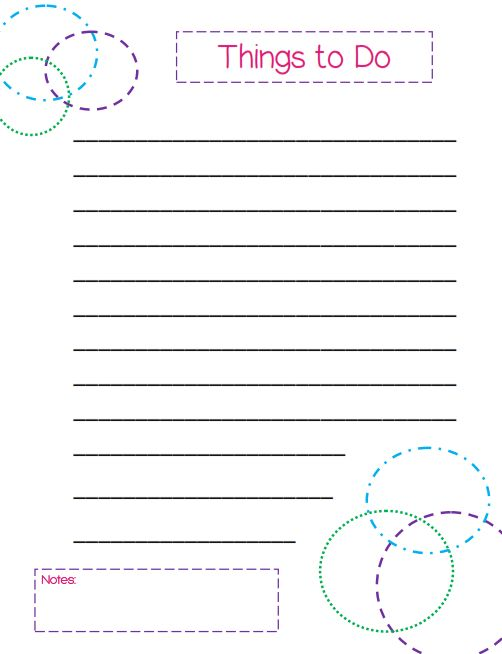 Things To Do List - a Colorful Circles Themed Template | Free ...