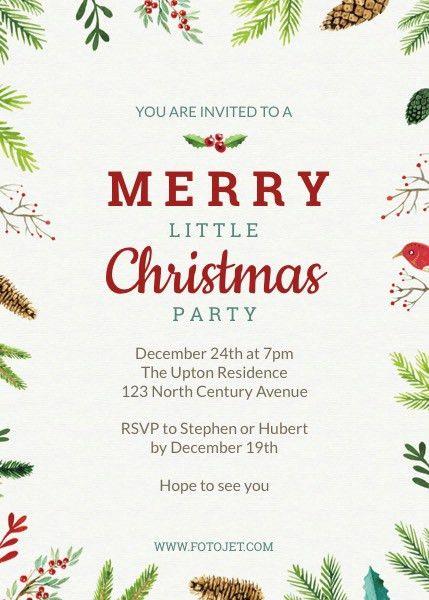 Christmas Invitation Template. Free Christmas Invitation Template ...
