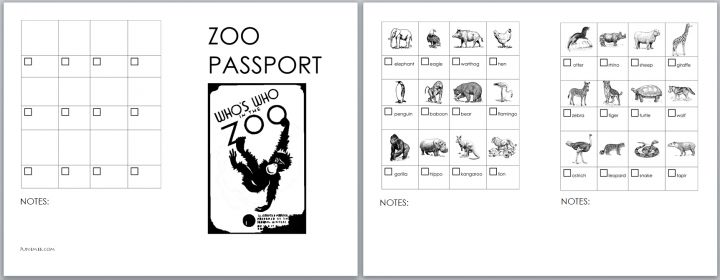 Zoo Passport (Free Download) | June Mee