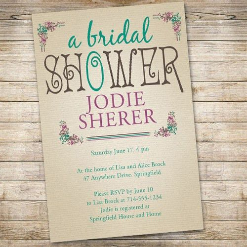 Discount Bridal Shower Invitations | afoodaffair.me