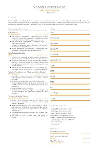 Apprentice Resume samples - VisualCV resume samples database