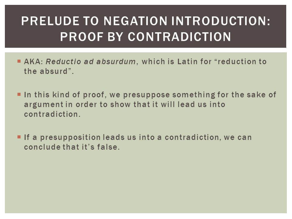 fitch rules for negation - ppt download