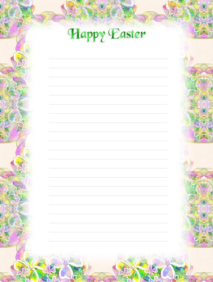 FREE Printable Lined Easter Stationery - Holiday Money Savers at ...
