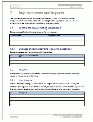 Business Requirements Specification Template (MS Word/Excel/Visio)
