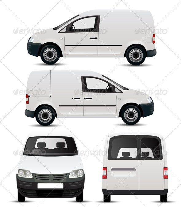 White Commercial Vehicle Mockup by robisklp   GraphicRiver