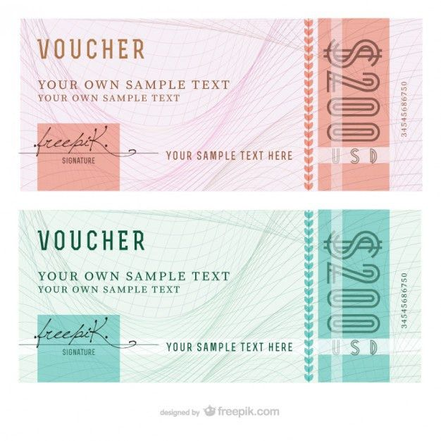 Abstract voucher templates Vector | Free Download