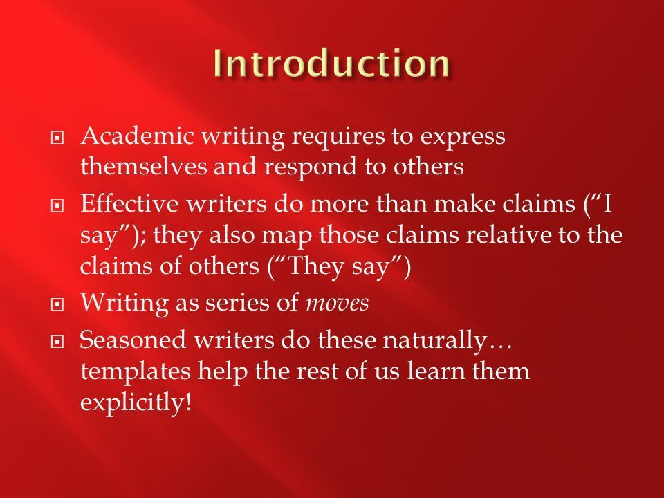 The Moves That Matter in Academic Writing - ppt download