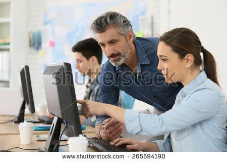 Students Working On Computers Stock Photo 80914435 - Shutterstock