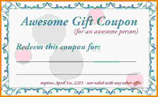 Free Coupon Template.Birthday Gift Coupons.jpg - Letter Template Word