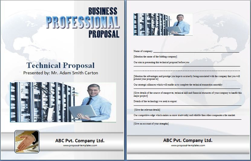 Technical Proposal Template Free | Proposal Templates