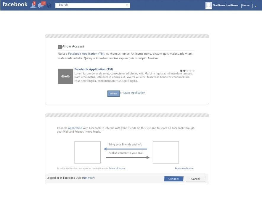 Facebook Like Template - Contegri.com
