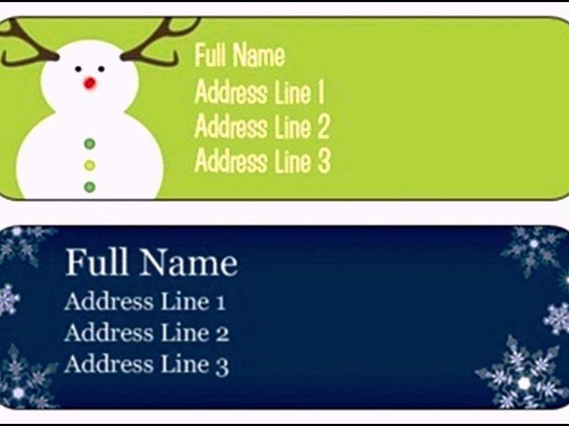 Free Return Address Label Template | TemplateZet