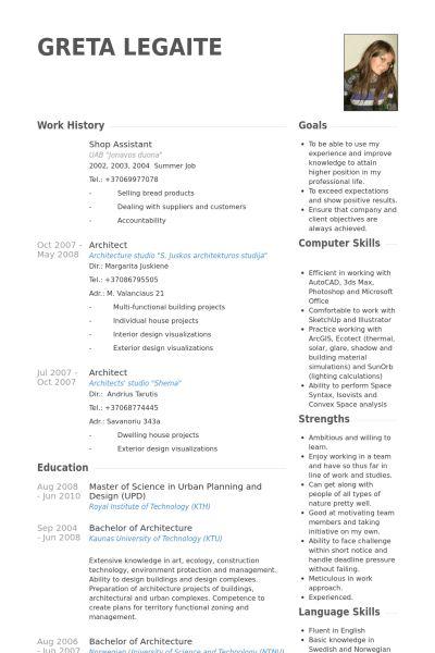 Shop Assistant Resume samples - VisualCV resume samples database