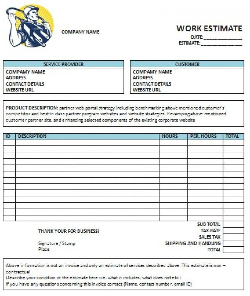 Download Electrical Invoice Template Uk | rabitah.net