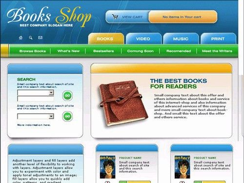 Free website templates with Books theme - 1