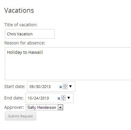 Simple Vacation Plugin For Members