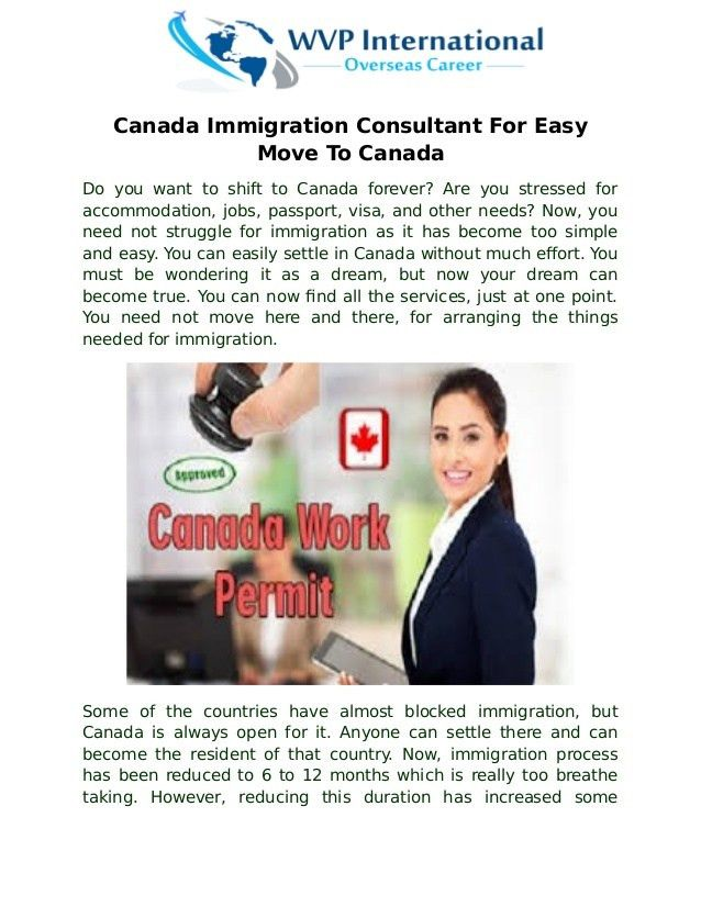Canada immigration consultant for easy move to canada