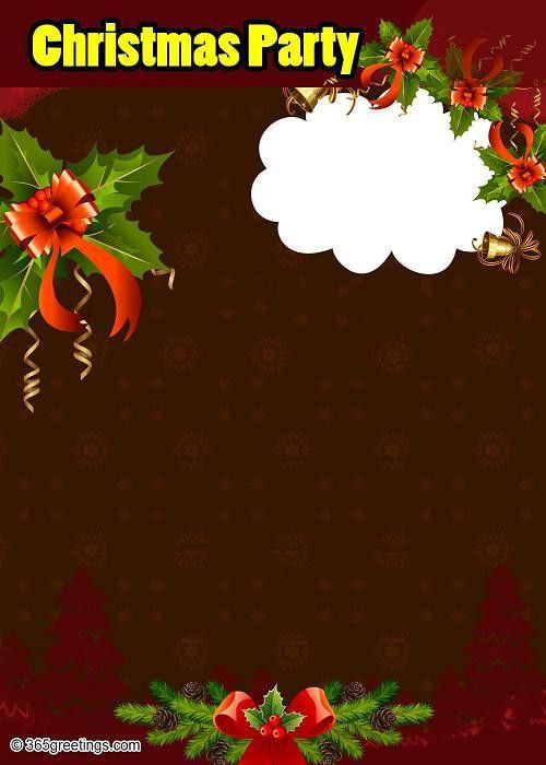 Christmas Party Invitations and Christmas Party Invitation Wording ...