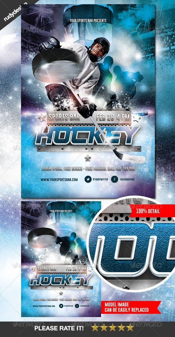 Ice Hockey Flyer Design by rudydesign | GraphicRiver
