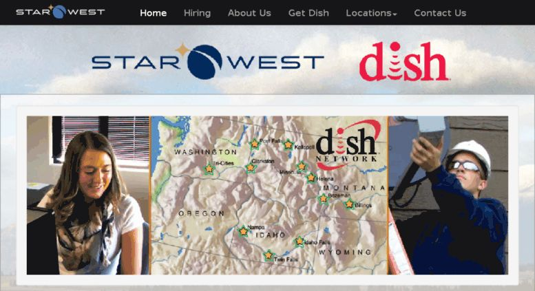 Access starwestsatellite.net. Home