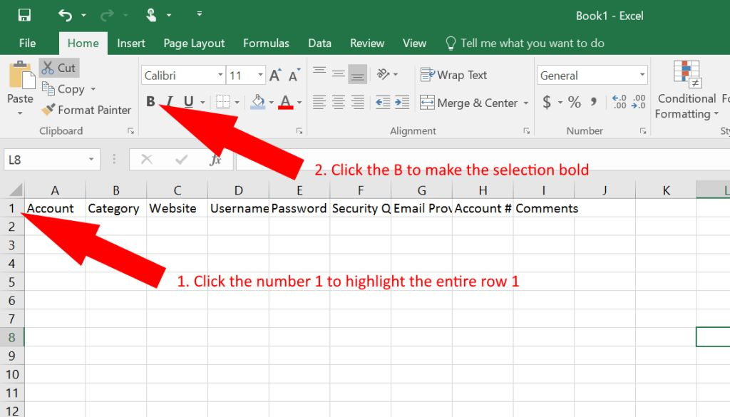 How to Use Excel as a Password Keeper (Free Template) - German Pearls