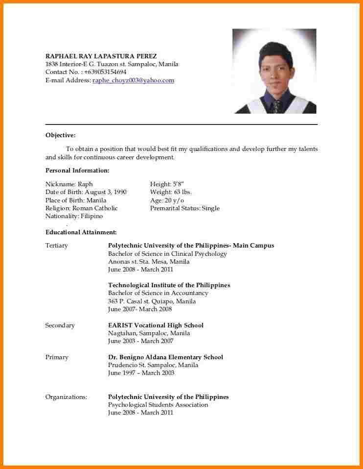Resume New Format. Free Resume Format 2017 Free Resume Templates ...