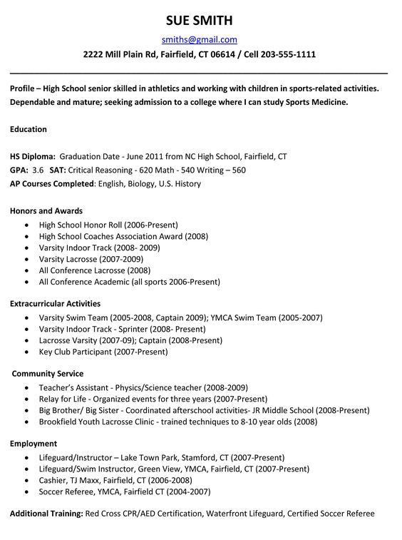 The 25+ best High school resume ideas on Pinterest | College ...