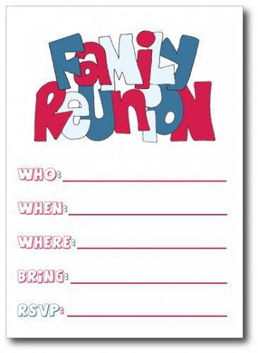 Family Reunion Invitations | Clipart Panda - Free Clipart Images