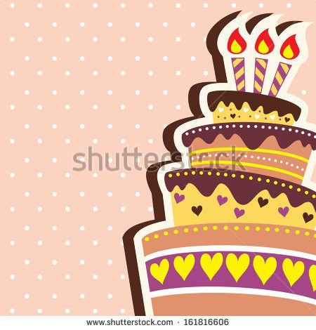 Happy Birthday Card Template Large Layered Stock Vector 161241959 ...