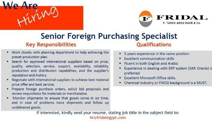 Senior Foreign Purchasing Specialist | Sarah Fekry | Pulse | LinkedIn