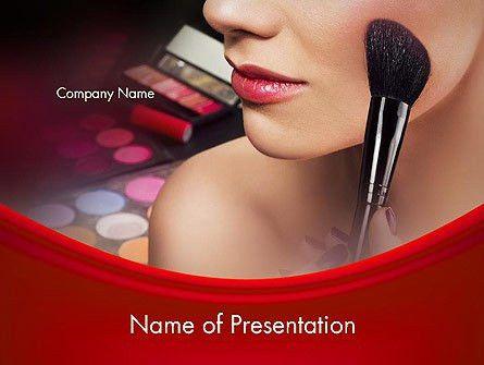 Make Up PowerPoint Template, Backgrounds | 12493 | PoweredTemplate.com
