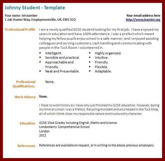 My First Resume Template. My First Resume For First Time Job ...