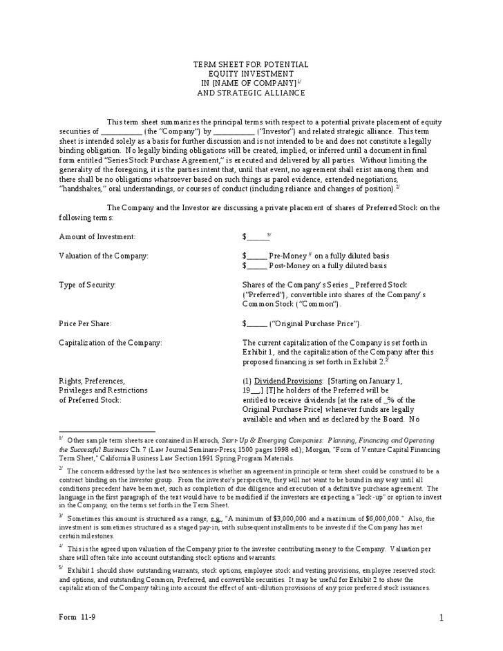 Strategic Investment Term Sheet - Hashdoc