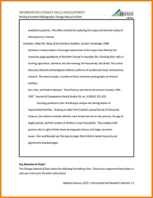 6+ chicago annotated bibliography example | Annotated bibliography
