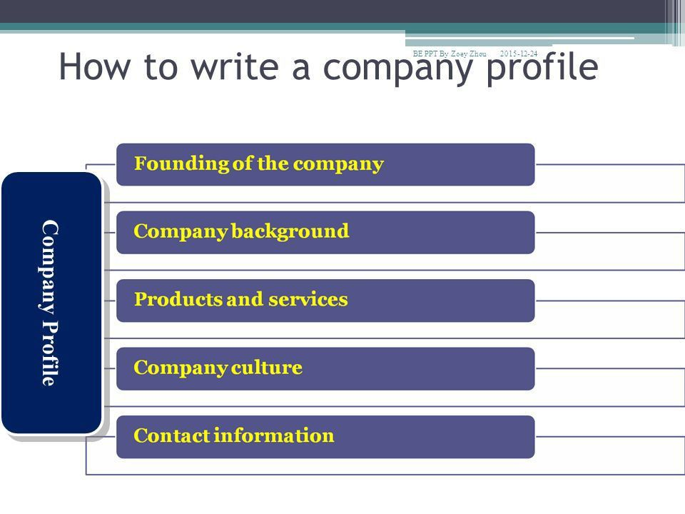 How do you write a company profile