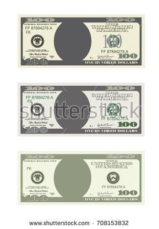 Dollar Currency Notes Vector Money Templates Stock Vector ...