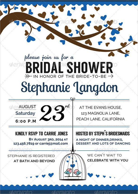 26+ Wedding Shower Invitation Templates – Free Sample, Example ...