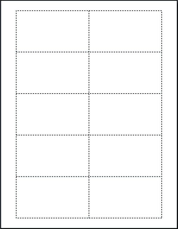 Free Blank Business Card Template for Microsoft Word | EmetOnlineBlog