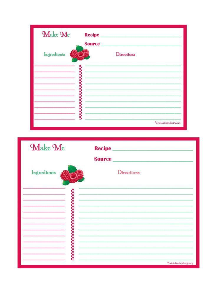 507 best printable recipe cards images on Pinterest | Printable ...