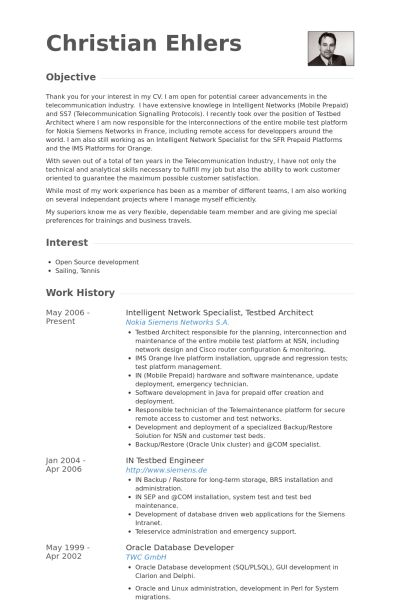Network Specialist Resume samples - VisualCV resume samples database