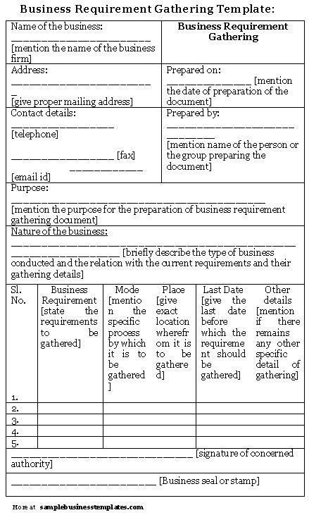 Business Requirements Document Template. Business Requirement ...