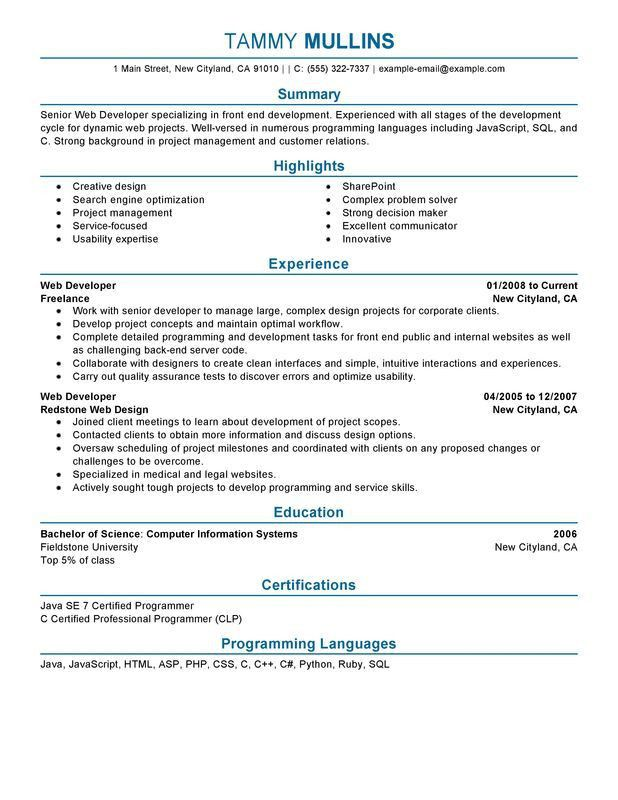 Download Web Designer Resume Template | haadyaooverbayresort.com